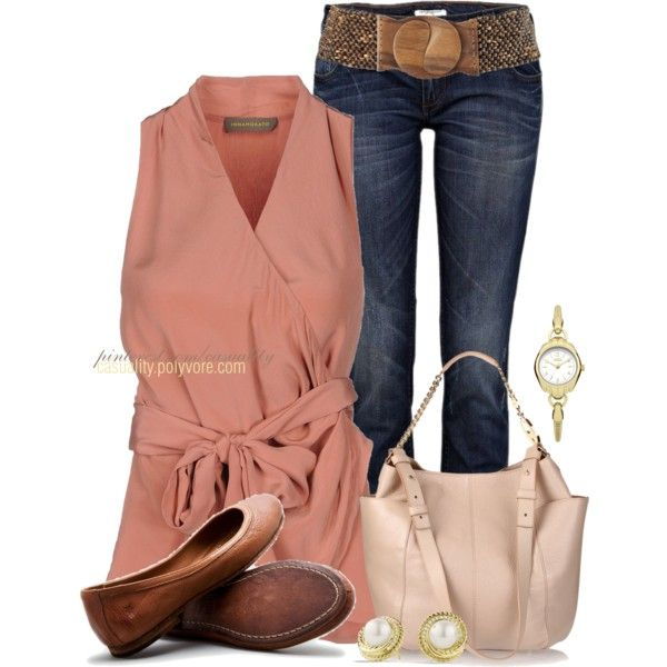 """""""Jimmy Choo Tote & River Island Jeans"""" by casuality on Polyvore"""