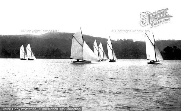 Bowness-On-Windermere, Sailing Boats 1896 #sailing #yachting #nostalgia