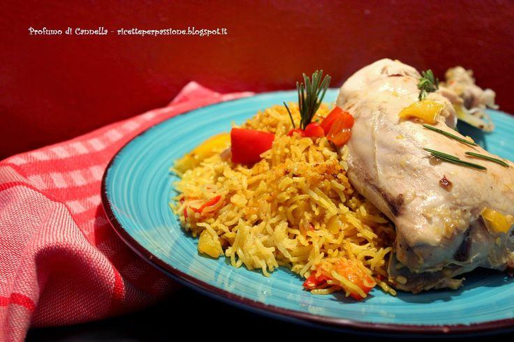 Profumo di cannella: Arroz con pollo - Riso Pilaf per il mio MTC