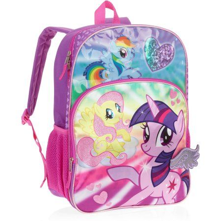 """Backpack 16/"""" Multi-Compartment My Little Pony Girl Pink New"""