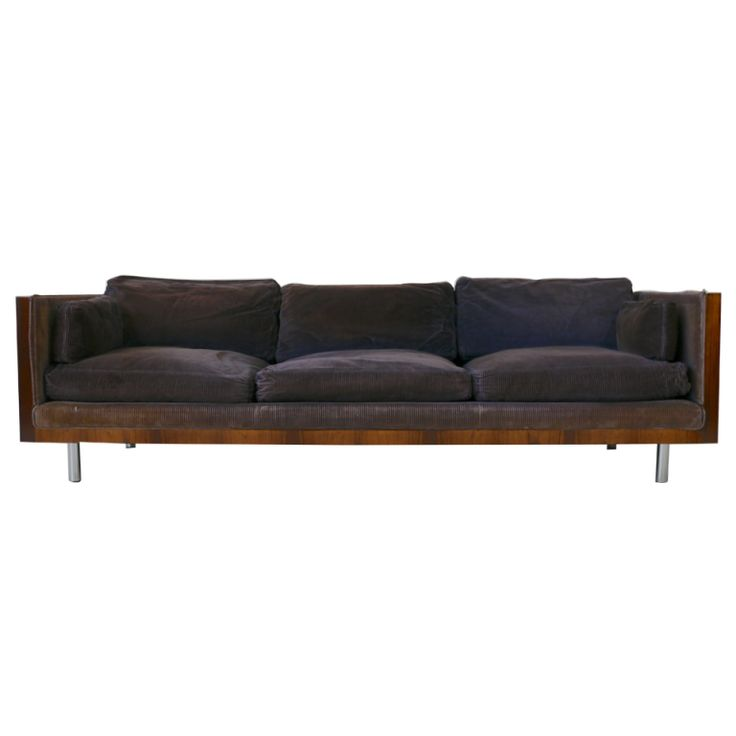 Milo Baughman Rosewood Sofa | From a unique collection of antique and modern sofas at https://www.1stdibs.com/furniture/seating/sofas/