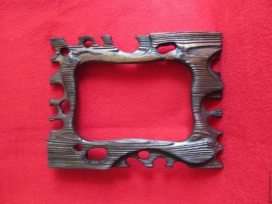 """Зеркала ручной работы. Ярмарка Мастеров - ручная работа. Купить Рамка для фото """"старое дерево"""". Handmade. Коричневый, охота, дерево"""