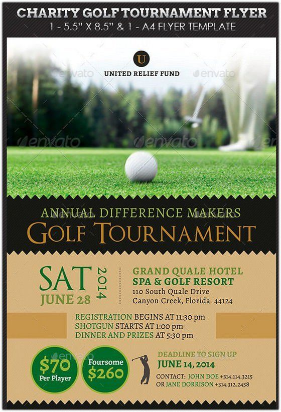 charity golf tournament flyer hd 2