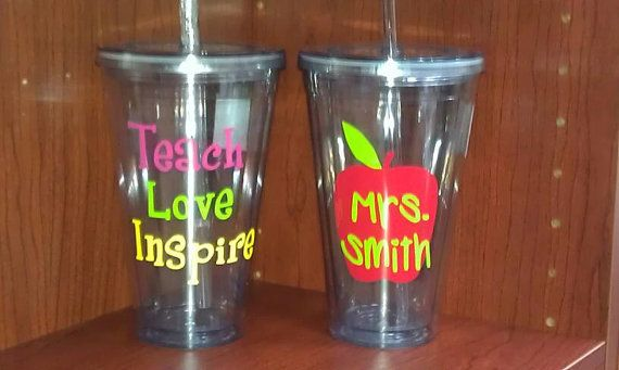 16 oz insulated tumbler...perfect for teacher by ForeverBFs