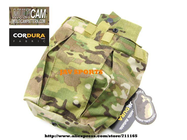 TMC 167-169 Medium Dump Pouch Genuine Multicam Pouch Airsoft Tactical Gear Magazine Drop Pouch+Free shipping(SKU 12050612)