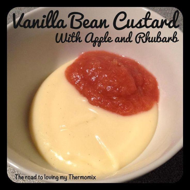 Custard and apple and rhubarb