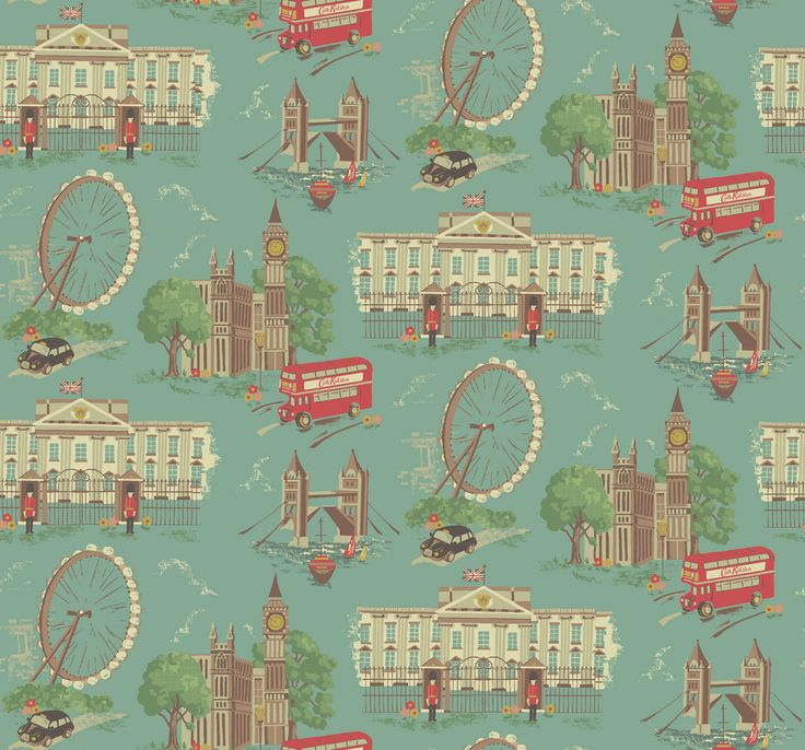 London print   Cath Kidston - stumbled into this store in London and stayed for 2 hours, bought a bag with this print!  LOVE IT!