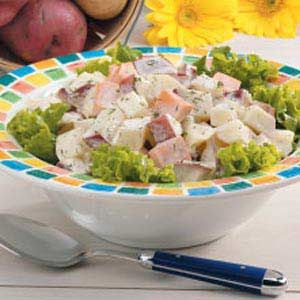 Three Potato Salad - This potato salad is to die for scrumptious!  It was a hit with my son too!