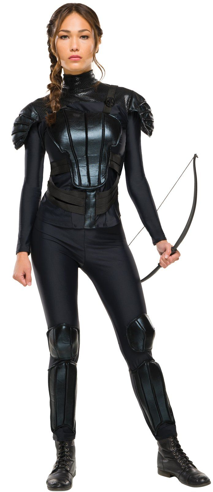 Why offer any costume that needs a bow and arrow set?!? Geesh. The Hunger Games: Mockingjay Part 2 Deluxe Womens Katniss Costume from Buycostumes.com
