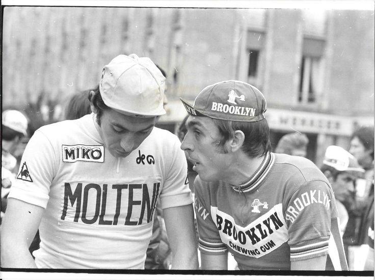 PHOTO DE PRESSE CYCLISME EDDY MERCKX PATRICK SERCU TOUR DE FRANCE 1974 | eBay
