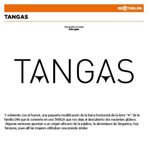 "Ludograma ""Tangas"" (""Thongs"" in English) by Juan Carlos Berthelon."