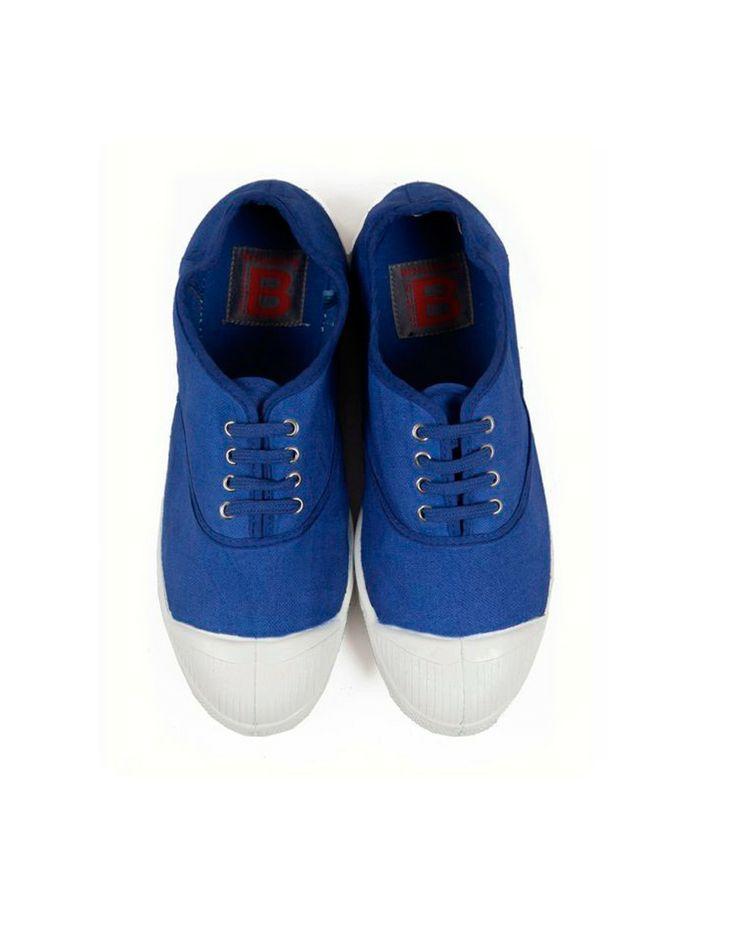 Tennis lacets bleu vif #Bensimon #Toile #Summer2014