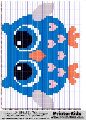 Owl #53 - Animal - 176 pattern