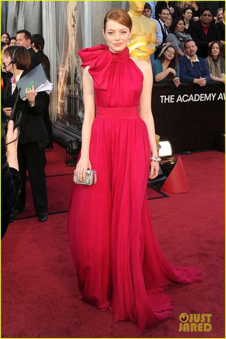 Emma Stone in Giambattista Valli Haute Couture @ The Academy Awards 2012: Giambattista Valli, Redcarpet, Gowns, Celebrity Dresses, Red Carpets, Bows, Academy Awards, Oscars Dresses, Emma Stones