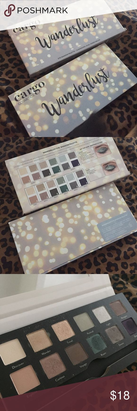 BNIB Cargo Cosmetics Wanderlust Eyeshadow Palette BNIB Cargo Cosmetics Wanderlust Eyeshadow Palette has only ever been swatched! Will consider trades  Cargo Cosmetics Makeup Eyeshadow