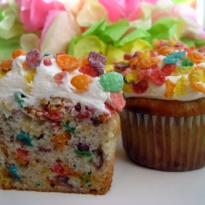 Fruity Pebble Cupcakes ( the real recipe)