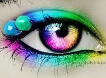 Rainbow eye contacts