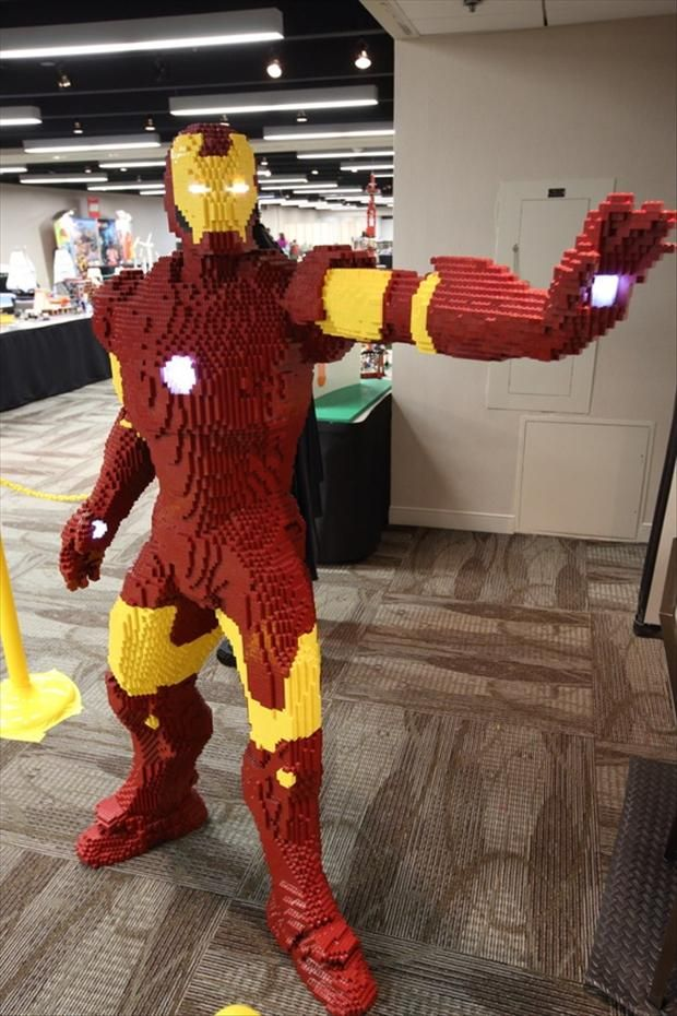 iron man, made from legos