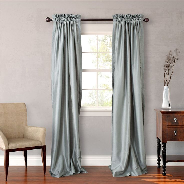 Heritage Landing Solid Lined Curtain Pair, Green