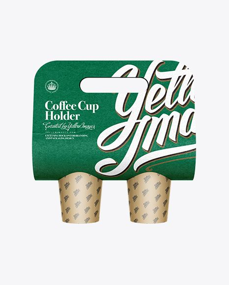 Paper Coffee Cup Carrier Mockup. Preview