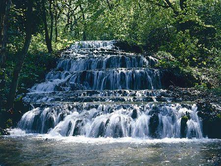 Hungary, waterfall in Bükk. Szilvásvárad, Fátyolvízesés.