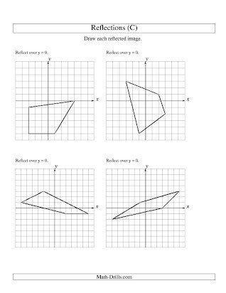 Transformations Math Worksheets Free Reflection Worksheet