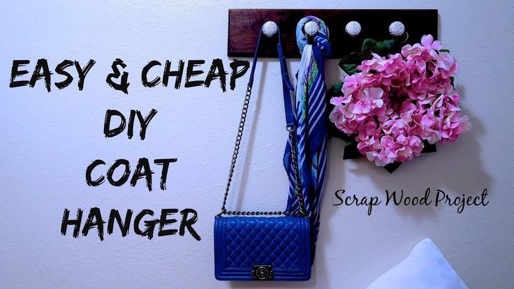 DY COAT HANGER, SCRAP WOOD PROJECT IDEAS