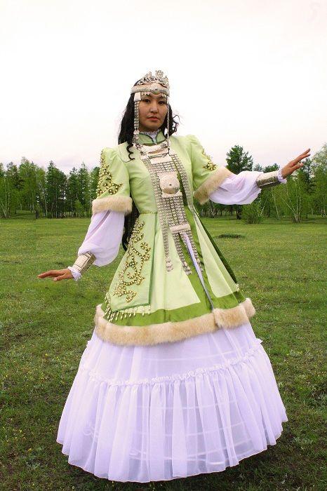 Girl in festive costume
