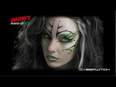 Cyber strega Halloween Make-up Tutorial - VideoTrucco
