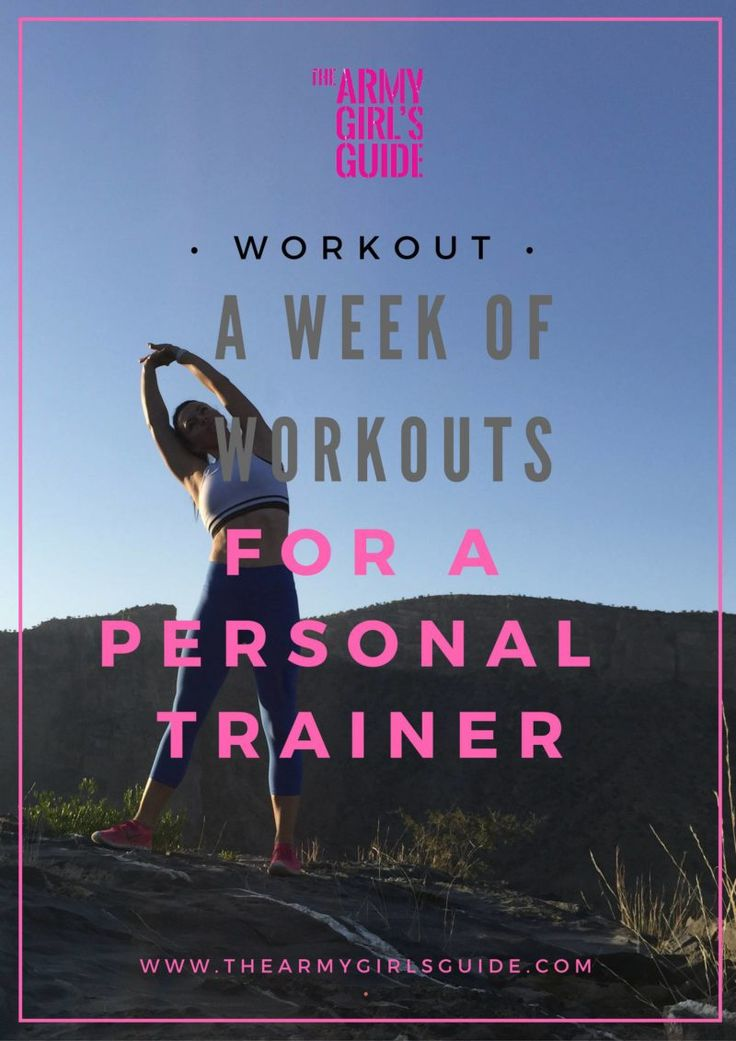 Want to know how the professionals fit in workouts? Check out The training week of a Personal Trainer from The Army Girl's Guide, and get the free printable workout!