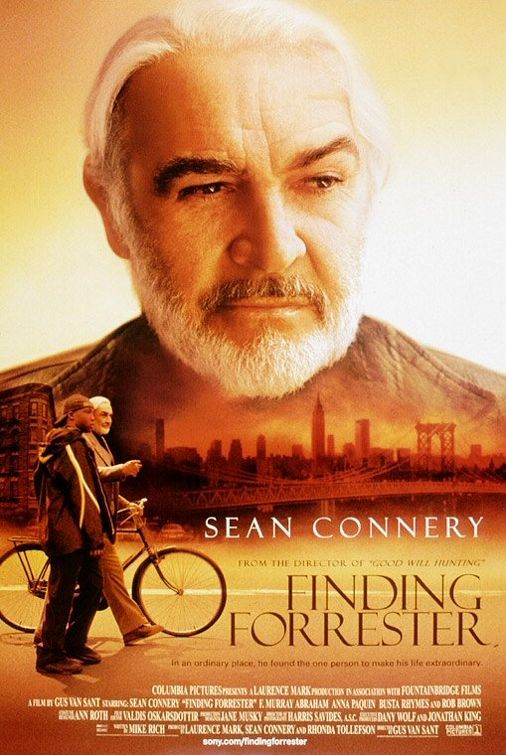 Finding Forrester (2000) After recognizing a high school basketball star's exceptional writing talent, award-winning novelist William Forrester decides to mentor the youngster, who harbors a passion not usually associated with jocks: He's obsessed with words. Sean Connery, Rob Brown, F. Murray Abraham...7b