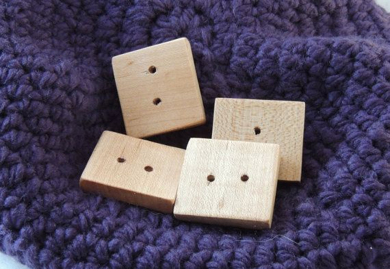 Hey, I found this really awesome Etsy listing at https://www.etsy.com/ca/listing/468862774/large-square-maple-button-reclaimed