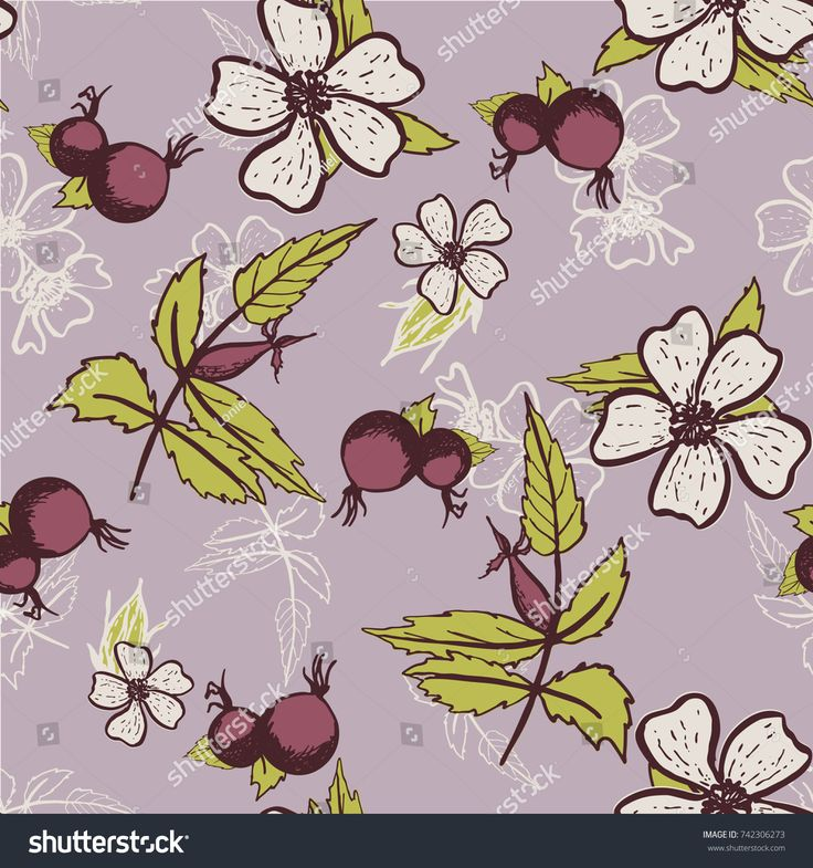 Seamless vector pattern with floral design for prints, covers, backgrounds and textile