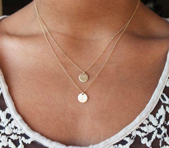 Personalized Double Strand Necklace  Multi door BellatrinaJewelry, $52.00