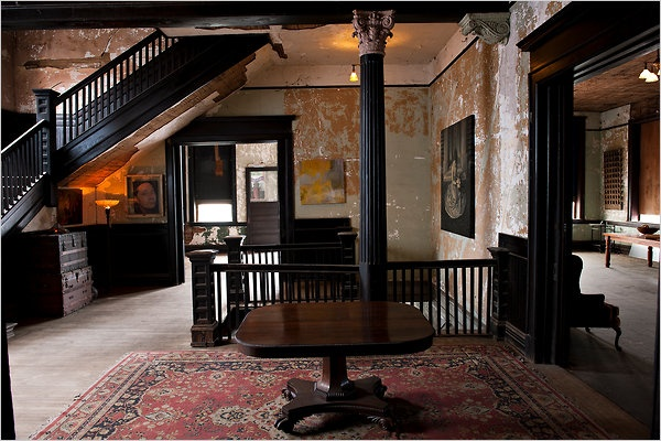 The darkly-stained wood. The crumbly walls. The ornate columns. Three words - My. Perfect. Space.