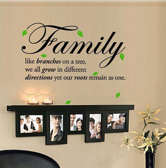 Familia como las ramas de un árbol todos crecemos en por 7decals, $21.99