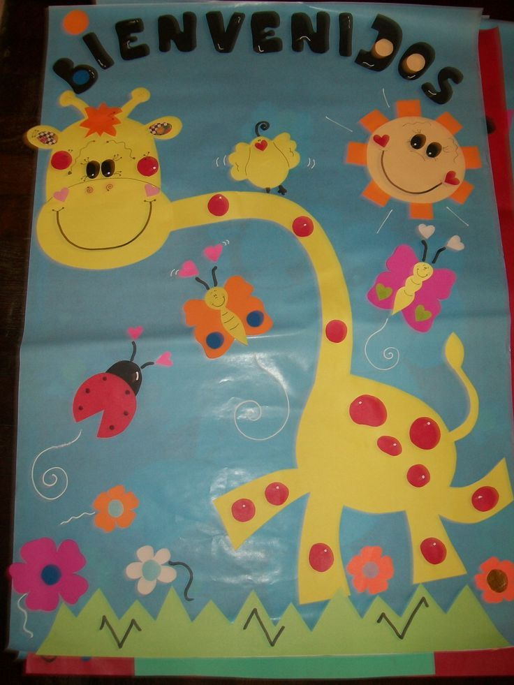 Puertas decoradas de bienvenida para preescolar buscar for Decoracion salon infantil
