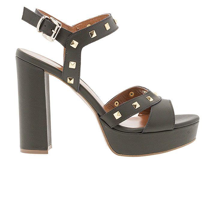 850F01-OILY LEATHERwww.mourtzi.com #sandals #heels #mourtzi #greekdesigners #kaki