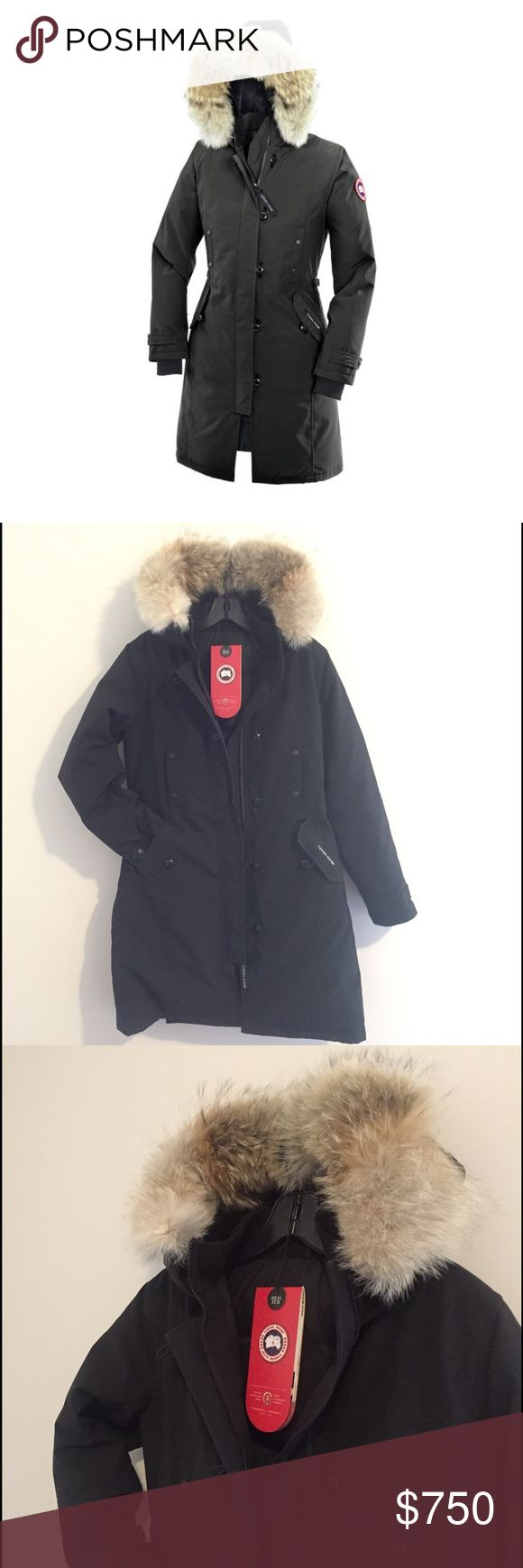 Canada Goose Kensington Parka size small I am selling a gorgeous Canada Goose Kensington Parka! I bought it in December of 2016 for a trip to Russia, so it has been worn about 8 days. It is in perfect condition. It fits beautifully. There are cinch straps along the side to provide a more form fitting fit. The tail of the jacket also buttons providing more movement which is extremely helpful! You are not confined by the jacket around your knees! I was warm in -20 F with the jacket and a…