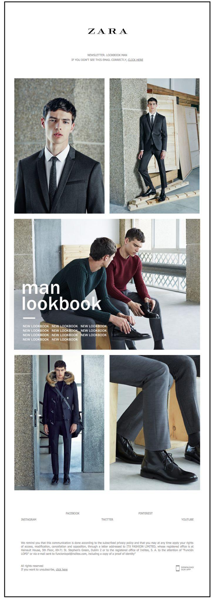 Zara poster design - Zara Newsletter New Lookbook Man September