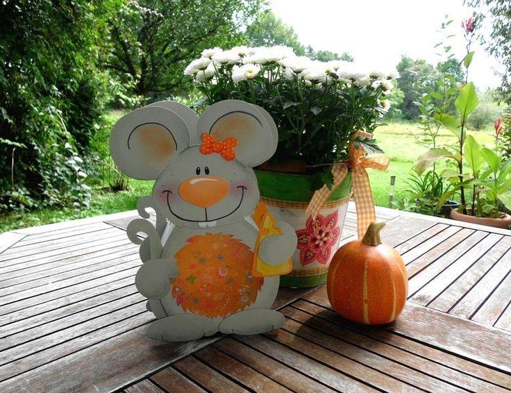 """Laterne Maus """"Malwine""""  (Martinslaterne) von fRAU kNUFFIG auf DaWanda.com"""
