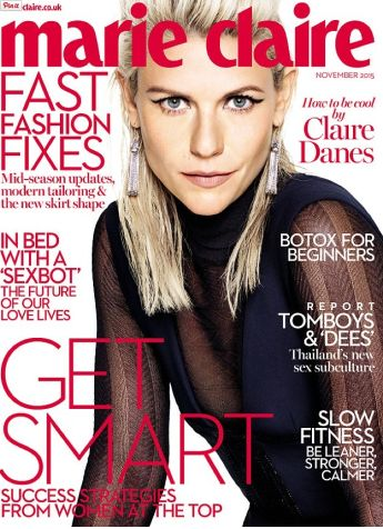 "Claire Danes talk about how to be cool in Marie Claire UK's November 2015 issue  Actress Claire Danes covers the November 2015 issue of Marie Claire UK magazine. The ""Homeland"" actress has been photographed by Vriens-McGrath."
