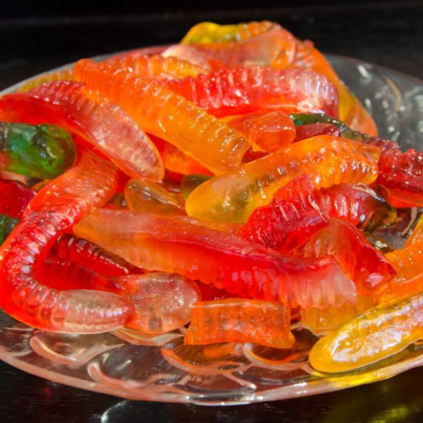 Vodka Gummy Worms, Soak these gummy worms in a mason jar full of vodka & refrigerate for a few hours.