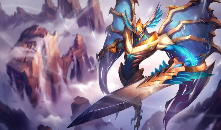 Aatrox | League of Legends Aatrox is a legendary warrior, one of only five that remain of an ancient race known as the Darkin. He wields his massive blade with grace and poise, slicing through legions in a style that is hypnotic to behold. With each foe felled, Aatrox's seemingly living blade drinks in their blood, empowering him and fueling his brutal, elegant campaign of slaughter.