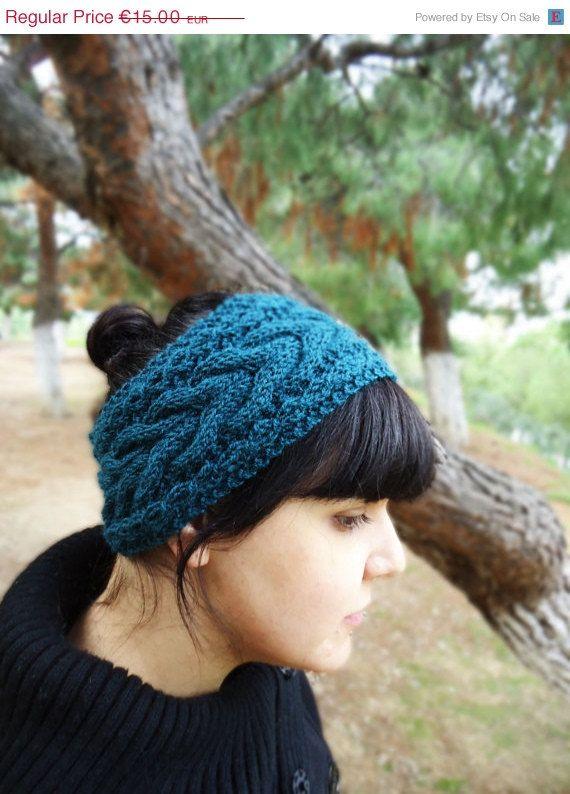 Women's knit headband cable knit winter headband by AlkistiKnits #earwarmer #womensaccessories #cableknitheadband #handmade