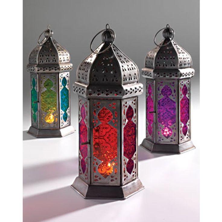 : Decor Ideas, Teas Lights, Moroccan Style, Moroccan Lanterns, Glasses Lamps, Fair Trade, Style Glasses, Colour Glasses, Glasses Lanterns