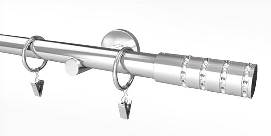 Karnisz nowoczesny NEO 16/16mm Alpi chrom mat