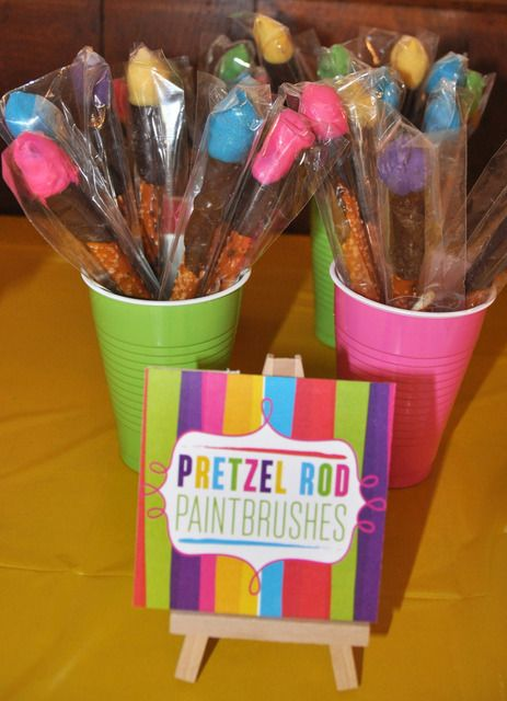 1000 ideas about kids paint party on pinterest paint for Arts and crafts birthday party
