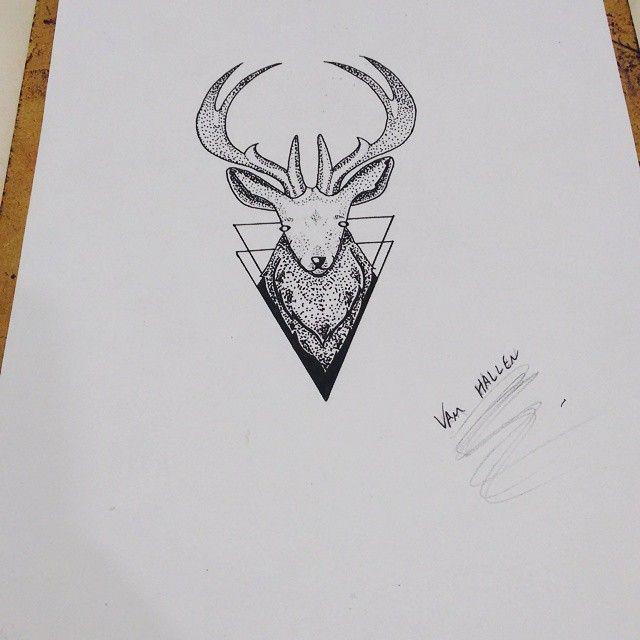 Art produzida para Tayna Silvares, pontilismo. #rastatattoo  #cervo #pontilismo