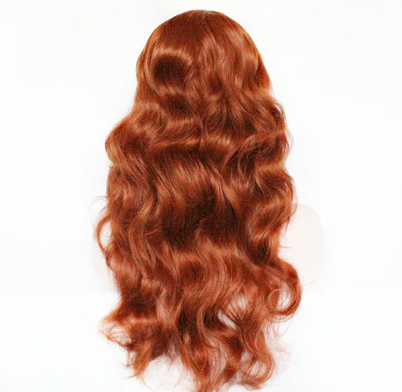 Valentine SALE Auburn wig red wig curly red wig by MissVioletLace